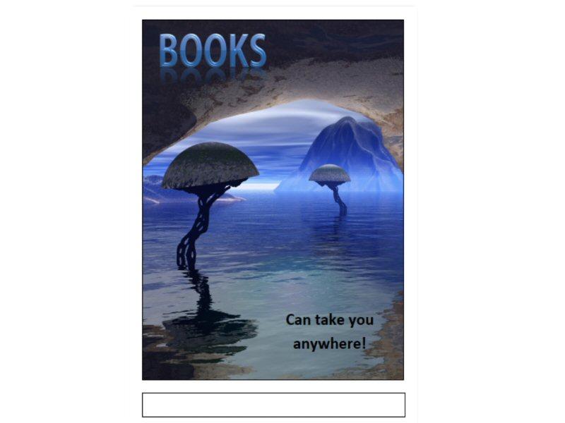 Book Fair Poster in A3 pdf format - Alien Planet Theme