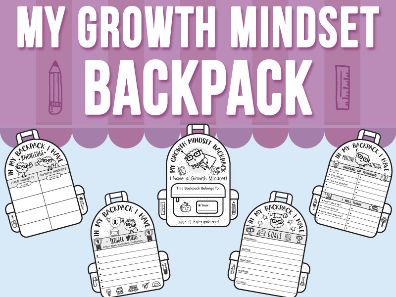 My Growth Mindset Backpack