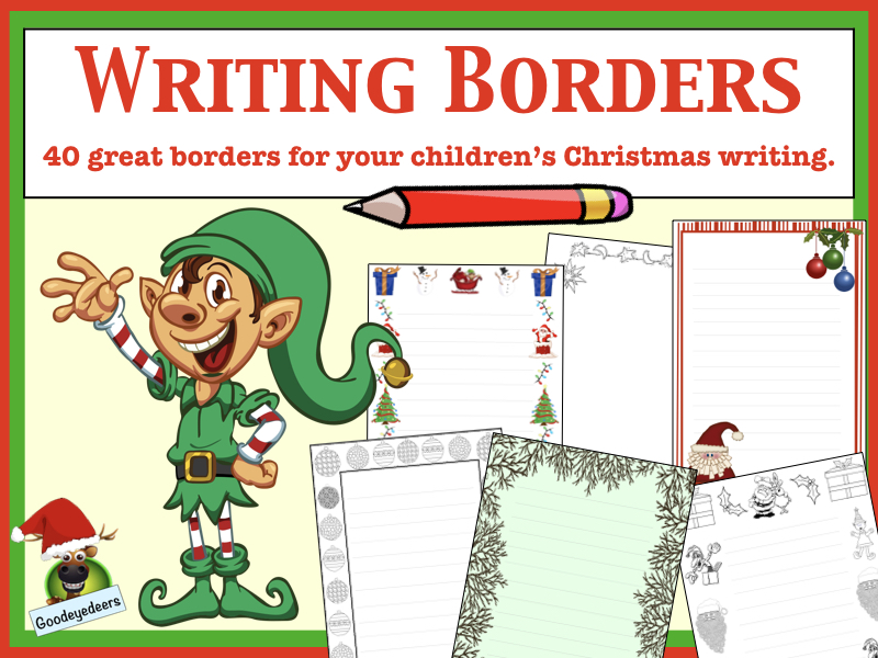 Christmas Literacy - 40 Christmas Borders for Your Children's Writing