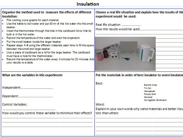 AQA Physics Required Practical Revision / Homework