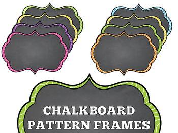 50 Chalkboard Pattern Frames set 8