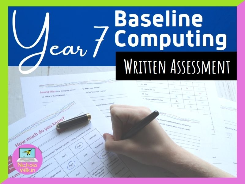 COMPUTING Year 7 Baseline Assessment (paper based test)