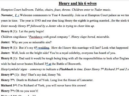Henry VI and his six wives Assembly