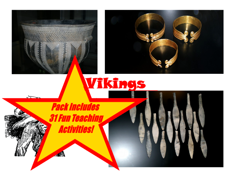 30 Viking Photos And Drawings PowerPoint Presentation + 31 Teaching Activity Teacher Guide