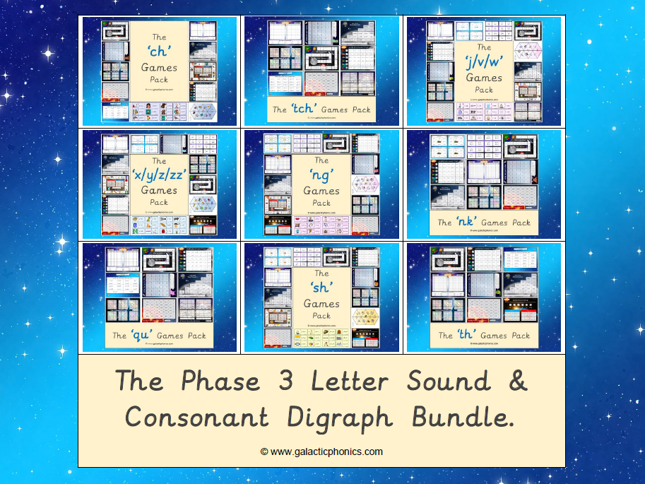 The Phase 3 Letter Sound and Consonant Digraph Bundle