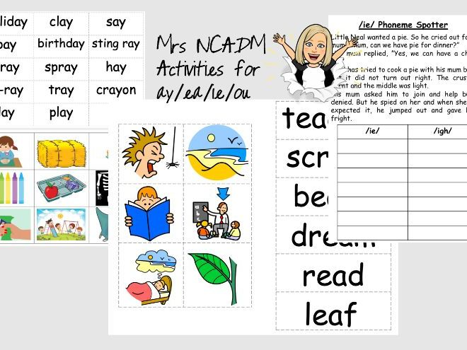 Phase 5a Activities for ay /ea / ie /ou (Letters and Sounds)