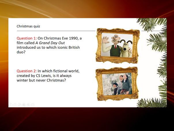 D&T Christmas quiz Powerpoint - 22 fun questions with bonus  pictures rounds!