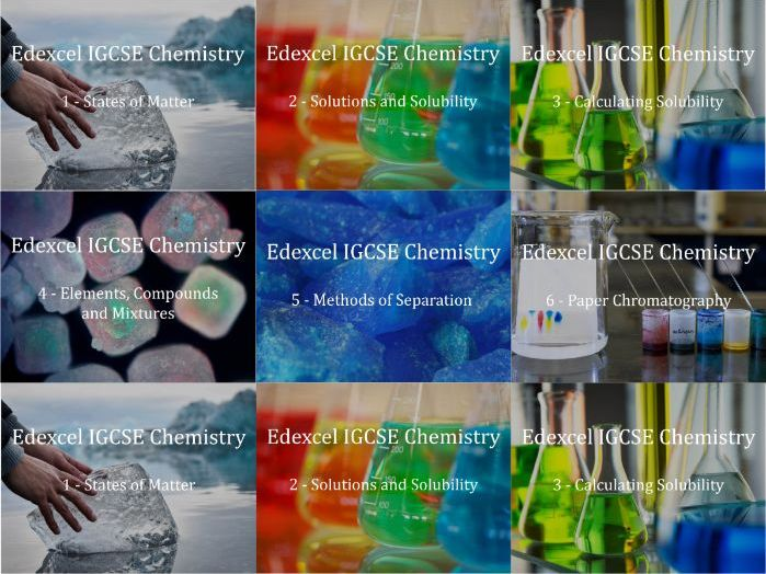 Edexcel IGCSE Chemistry Presentations Chapter 1 - Particles and Mixtures