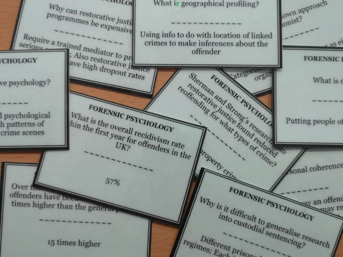 Forensic Psychology question pack (152 cards) [AQA A Level Psychology]