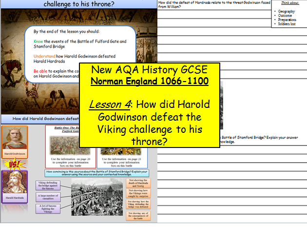 Norman England 1066-1100: Lesson 4 – The Battle of Fulford Gate and Stamford Bridge