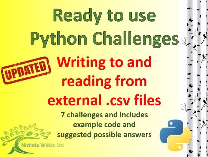 Python writing to and reading from  external CSV files