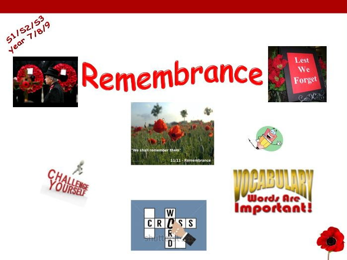 Remembrance Day - crossword
