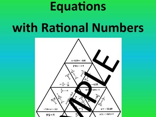 Equations with Rational Numbers – Math Puzzle