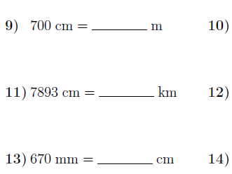 Converting metric units of length worksheet no 3 (with solutions)
