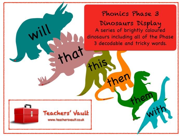 Phonics Phase 3 Dinosaurs Display