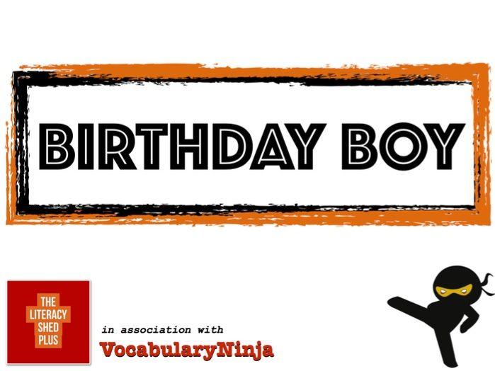 Birthday Boy Vocabulary Pack