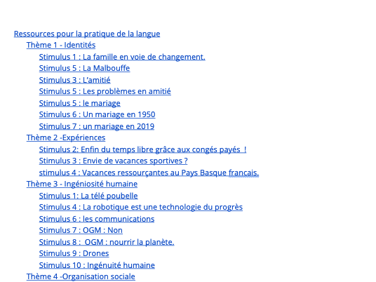 Speaking Practice  Resources Booklet for IB DP French B