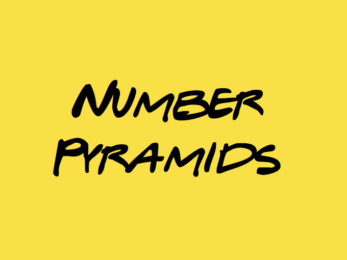 Number Pyramids - Puzzles Year 3/4
