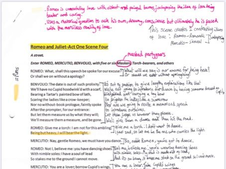 Romeo and Juliet A1S4 annotated