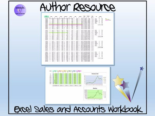 TES Authors' Resource - Excel Sales and Accounts Tracker and Workbook