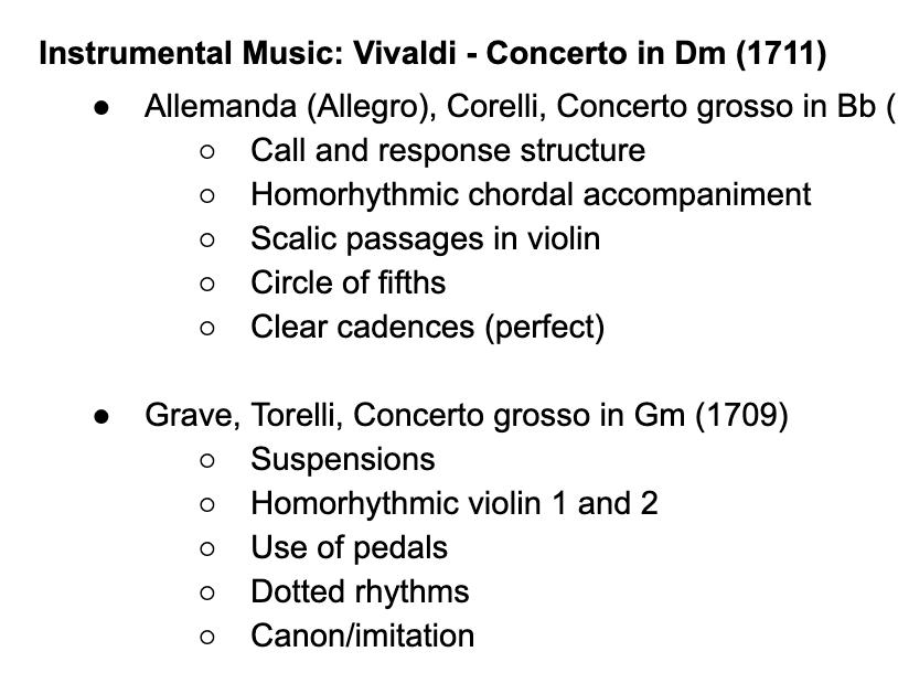 Edexcel A Level Music: Vivaldi Further Works