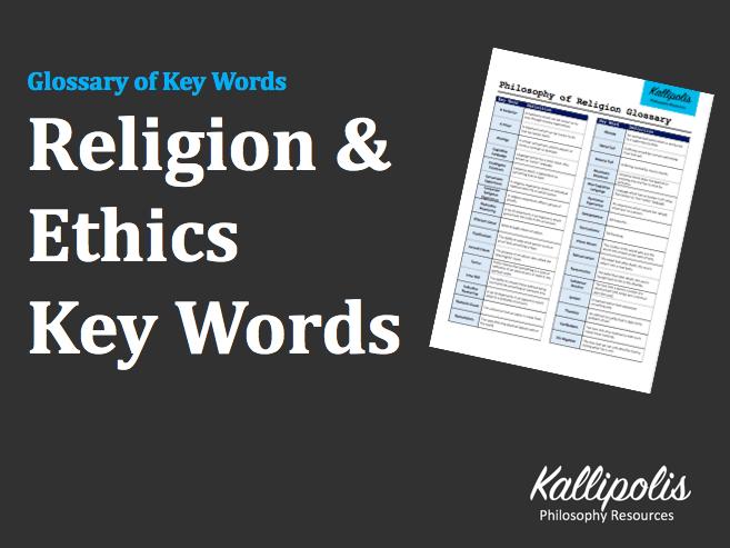 KS5 Religion & Ethics Glossary of Key Words