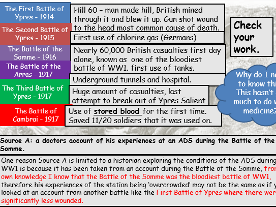 WW1 Medicine Revision Session (Edexcel 9-1)