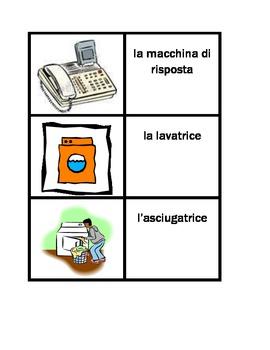 Elettrodomestici (Appliances in Italian) Casa Concentration games