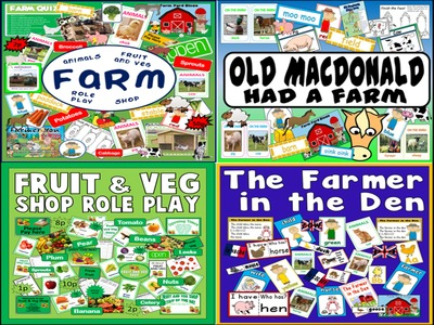 *ANIMALS BUNDLE* SCIENCE - FARM SHOP, ROLE PLAY, FARMER IN THE DEN, OLD MACDONALD, FROG LIFECYCLE - EARLY YEARS, KEY STAGE 1-2