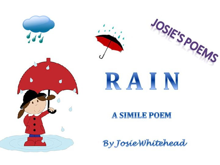 POEM:  RAIN - A simile poem by Josie Whitehead