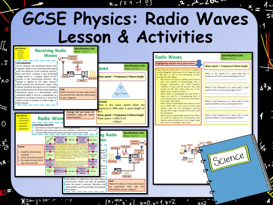 KS4 AQA GCSE Physics (Science) Radio Waves Lesson