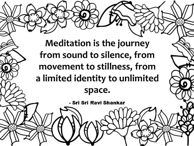 Meditation Quote Coloring Page