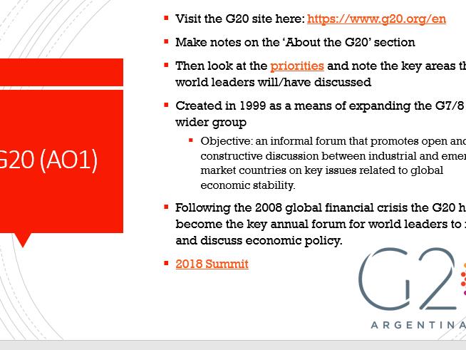G7/G8/G20 - Edexcel Global Politics