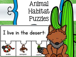 Animal Habitats Puzzles