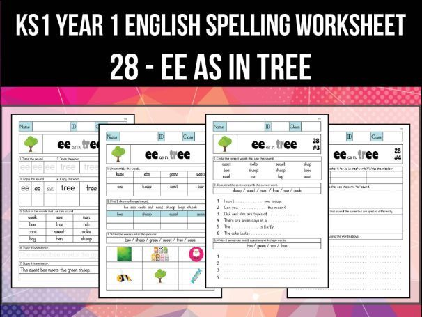 Spelling & Phonics Worksheet - iː sound spelled EE