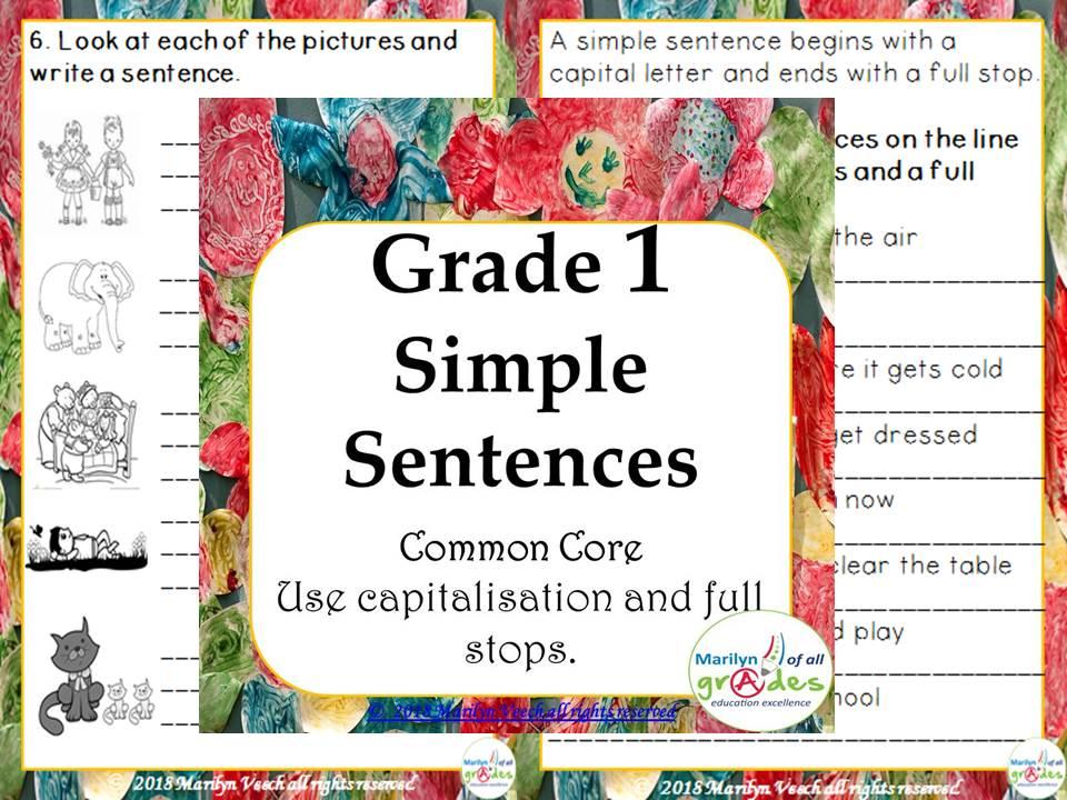 Grade 1 - Simple Sentences - Activities & Worksheets