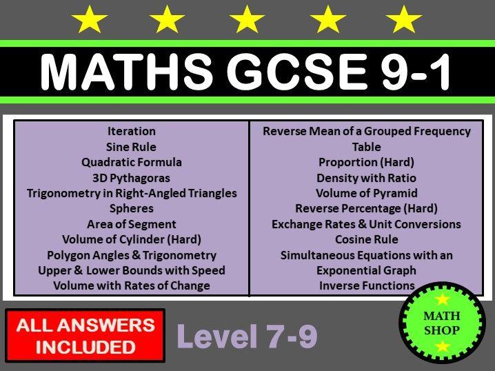 GCSE Higher Calculator Questions