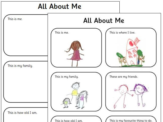 EYFS All About Me - Observation Template