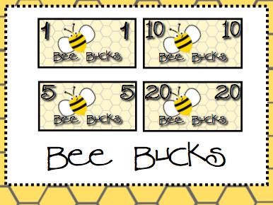 Bee Theme Classroom Money