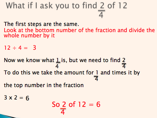 Finding Fractions of Amounts LA