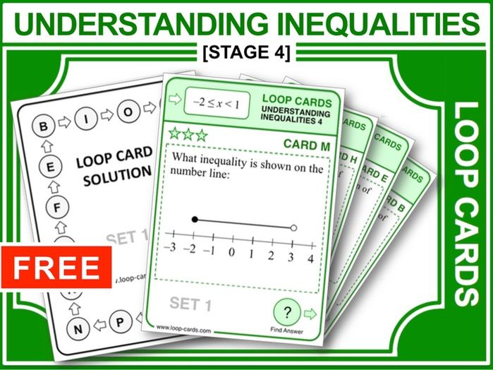 Inequalities 4 (Loop Cards)