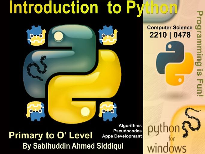 Introduction to Python 3.5/6 | Primary to O' Level Series 7