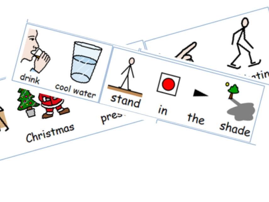 Paper-based activity - Sorting winter activities from summer activities