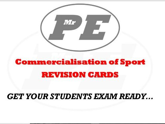 FLASHCARDS Commercialisation of Sport