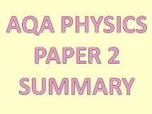 AQA Physics Paper 2 revision powerpoint