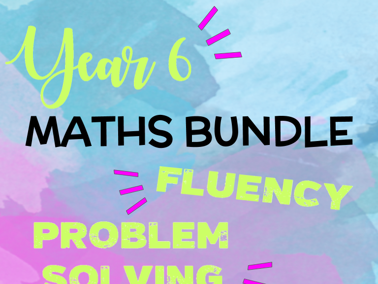 Year 6 Maths BUNDLE