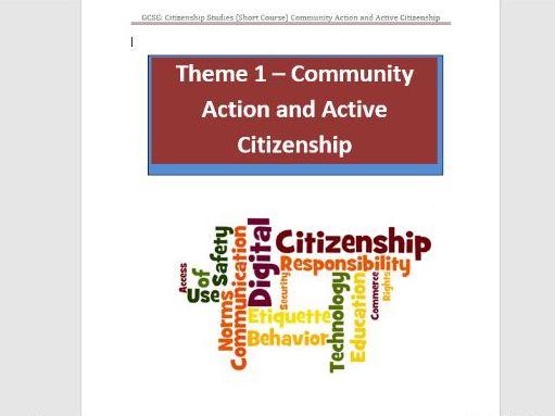 GCSE Citizenship-Active Citizenship Work Pack