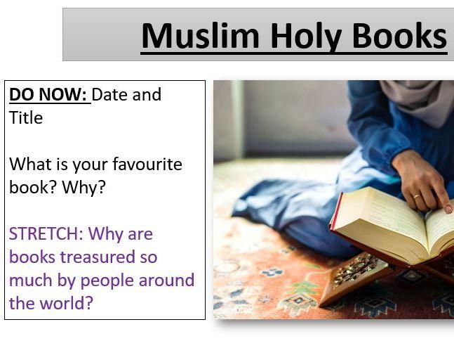 Muslim Holy Books / Kutub - Muslim Beliefs - Edexcel Spec B