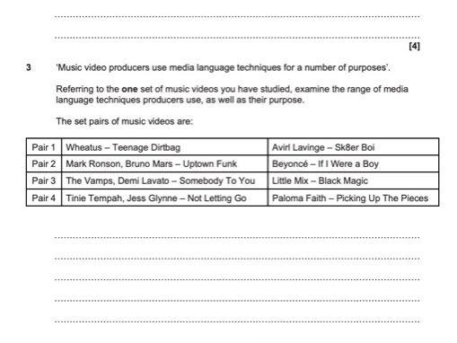 OCR GCSE Media Studies Paper 2 Mock