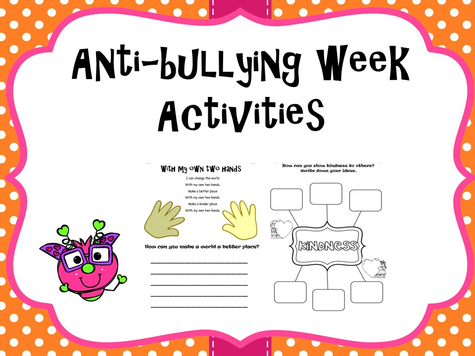 Anti-bullying week worksheets  and activities